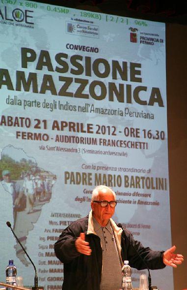 """Padre Mario al convegno """"Passione Amazzonica"""""""
