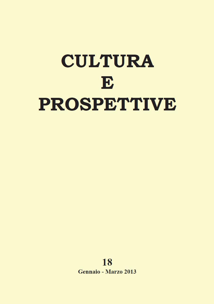 Copertina Culture e Prospettive